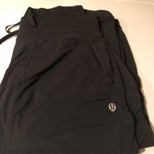 Lined Lululemon black dance studio pants size 4.